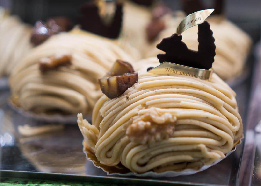 kyoto cheap eats - Chestnut dessert