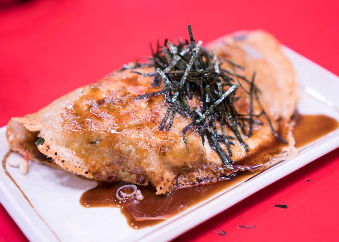 kyoto cheap eats - okonomiyaki