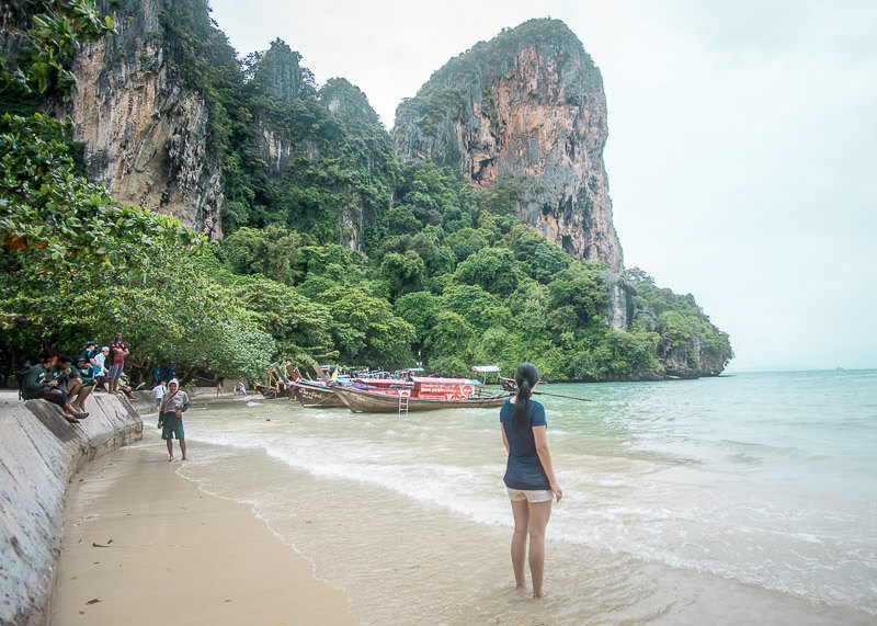 Rainy Days At The Beautiful Ao Nang Beach | There are tons of things to do in Ao Nang beach in Krabi Thailand, especially excursions from the area. If you're trying to decide if Ao Nang is the place for you and you're looking for ideas on places to stay, then read this post to help with your travel plans! #travel #destinations #thailand #krabi #slowtravel #wanderlust #aonang #beach