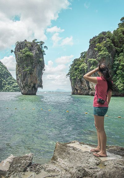 What To Expect On The Famous Phuket James Bond Island Tour | There are tons of things to do in Phuket, especially excursions from the area. If you're trying to plan how to get from one place to the next during your vacation or honeymoon, you will want to read this post on your travel options! #travel #destinations #thailand #jamesbondisland #phuket #slowtravel #wanderlust