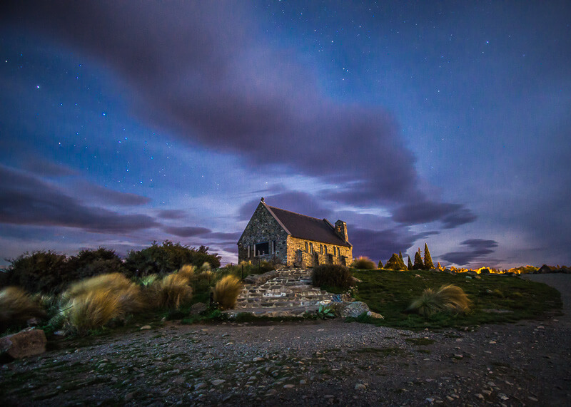 living on the road - Church of the Good Shepherd, Lake Tekapo