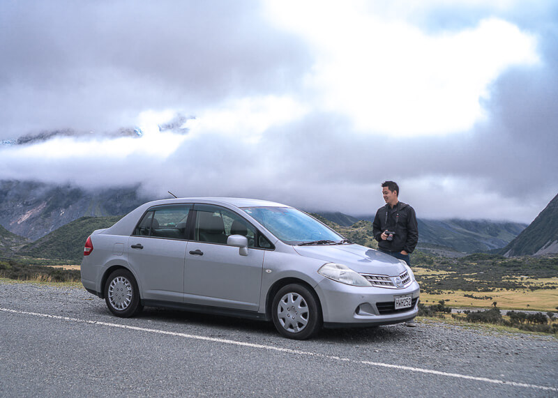 living on the road - car rental in new zealand