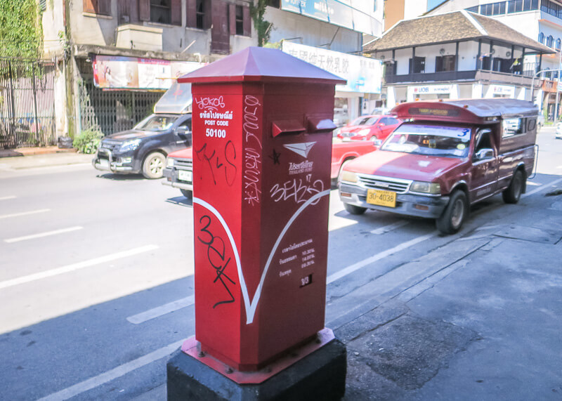 living in chiang mai thailand - mailbox