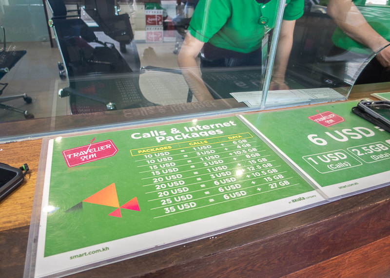 Siem Reap Travel Blog - cambodia internet data plan at siem reap airport