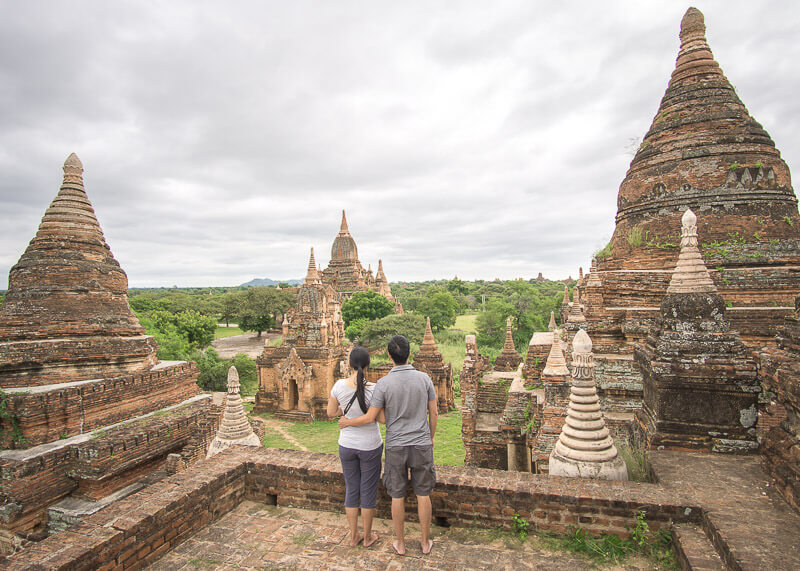Bagan trip blog - secret temple rooftop
