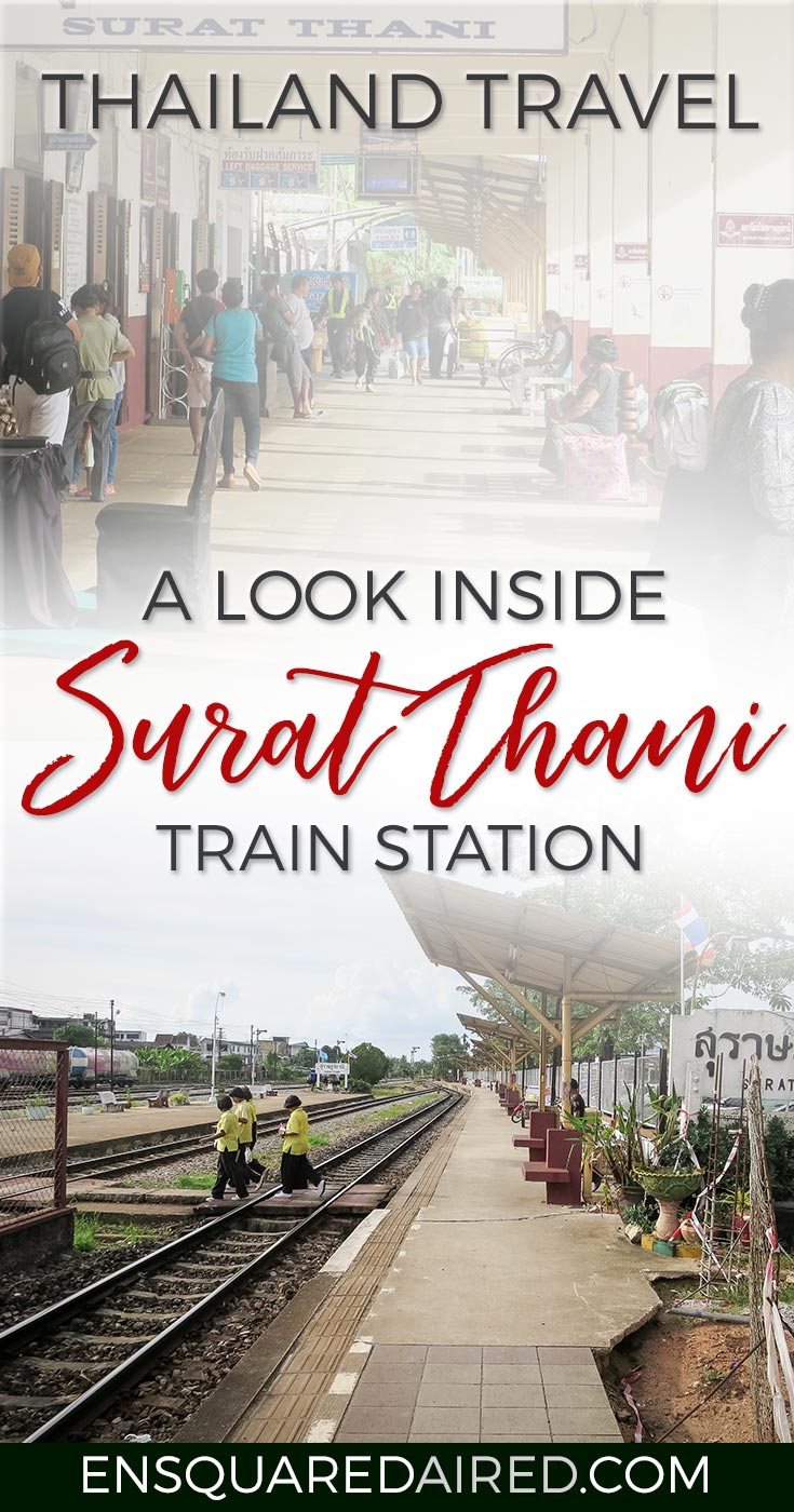 this is what the surat thani train station looks like - pin