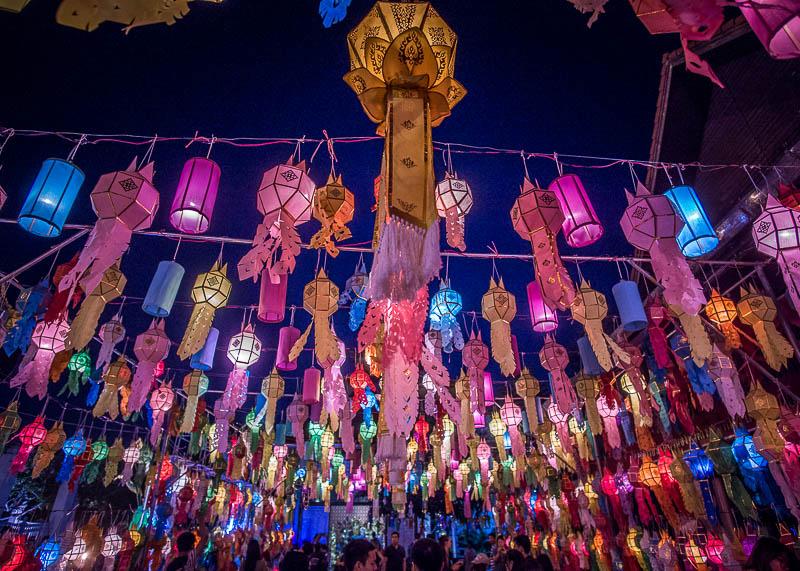 chiang mai travel blog - Yi Peng / Loi Krathong festival