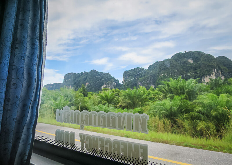 Why Bus From Krabi To Surat Thani Is The Best Option - on the highway of thailand