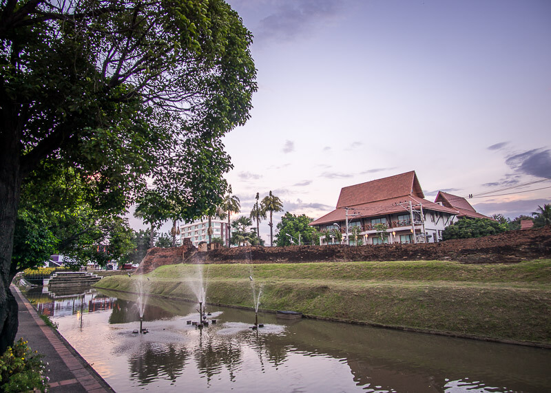 chiang mai trip blog - city moat