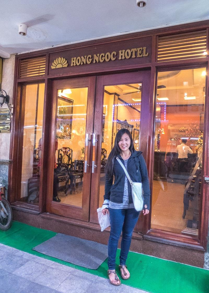 Hanoi travel blog - hotel in the city