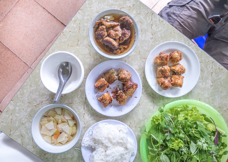Hanoi travel blog - bun cha dishes