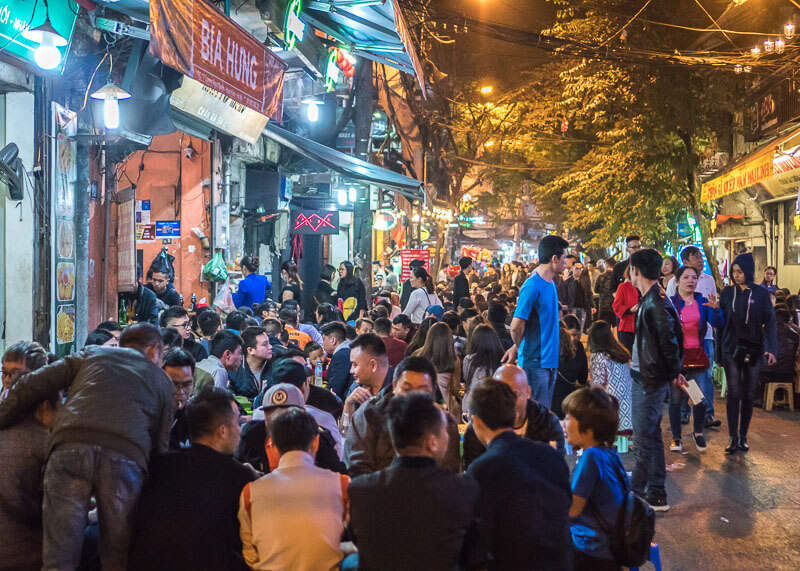Hanoi travel blog - beer street
