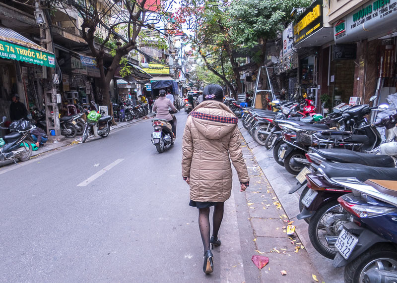 Hanoi travel blog - dressing warm for cold weather