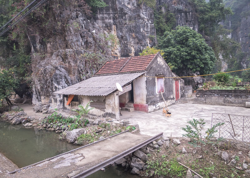 ninh binh travel blog - home in rural landscape