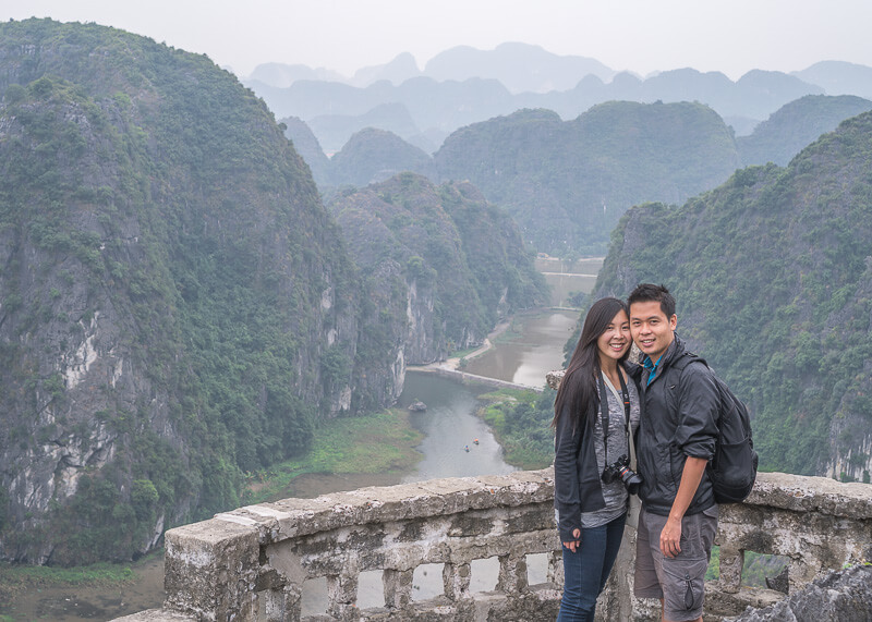 ninh binh trip blog - Hang Mua caves, stunning views