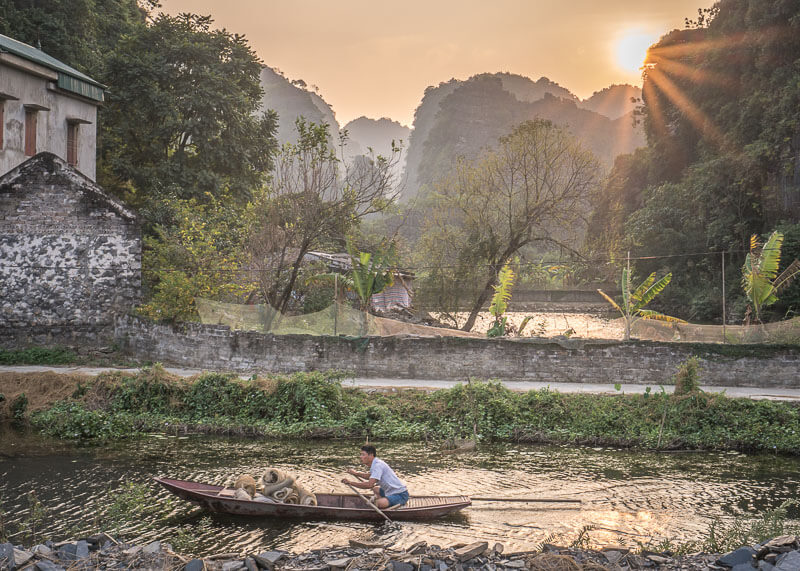 ninh binh travel blog - rural views of rivers and boats