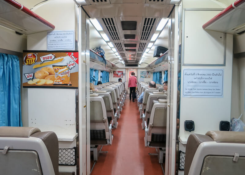 bangkok to ayutthaya train - train ride not full