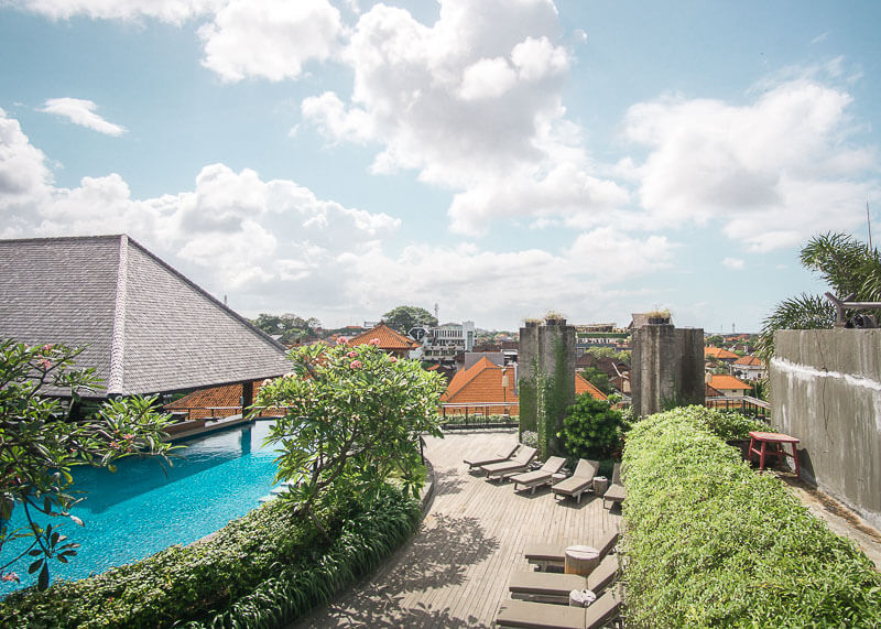 four points by Sheraton bali kuta swimming pool rooftop